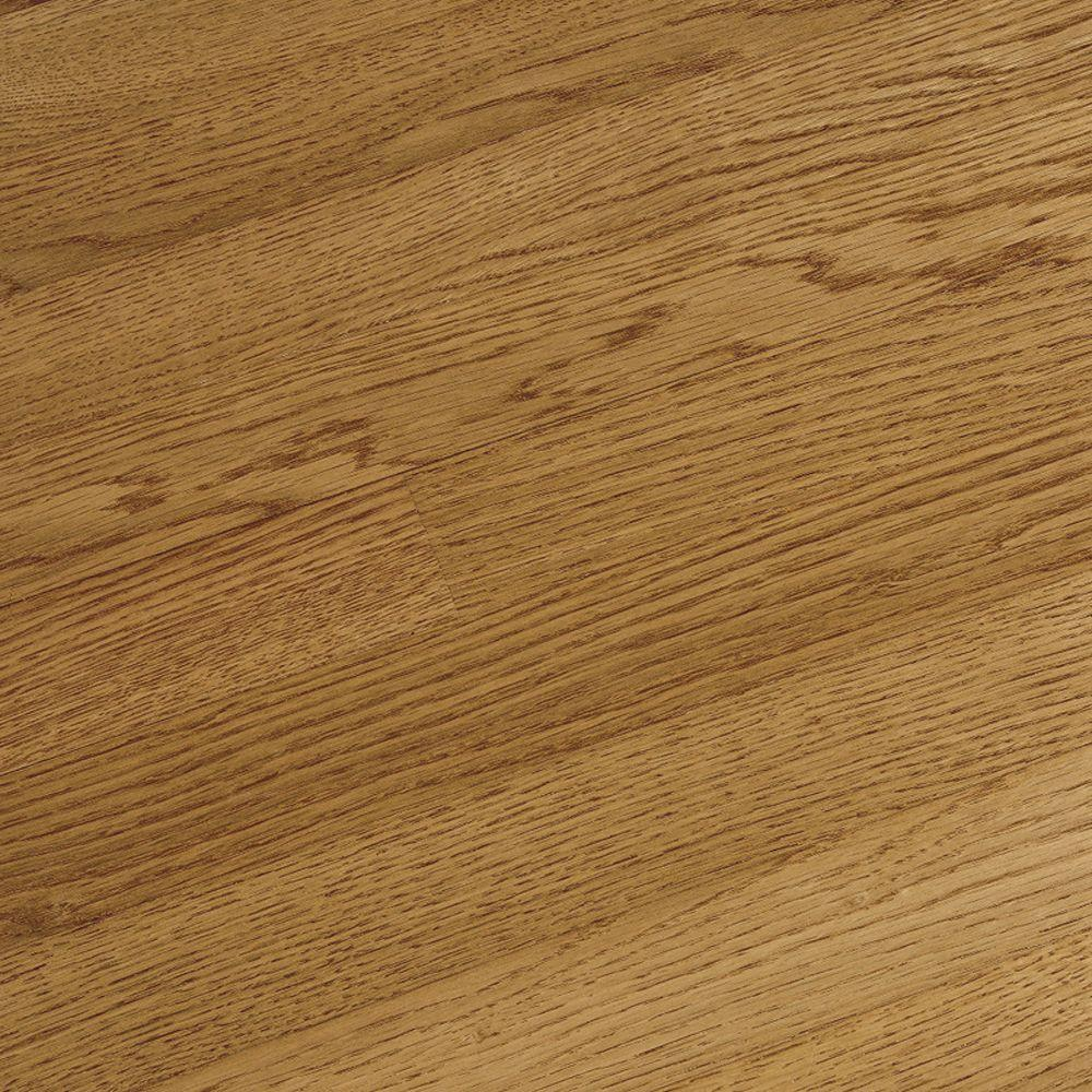 Bruce take home sample bayport solid oak spice hardwood flooring 5 in x 7 in br 665081 for Solid oak hardwood flooring