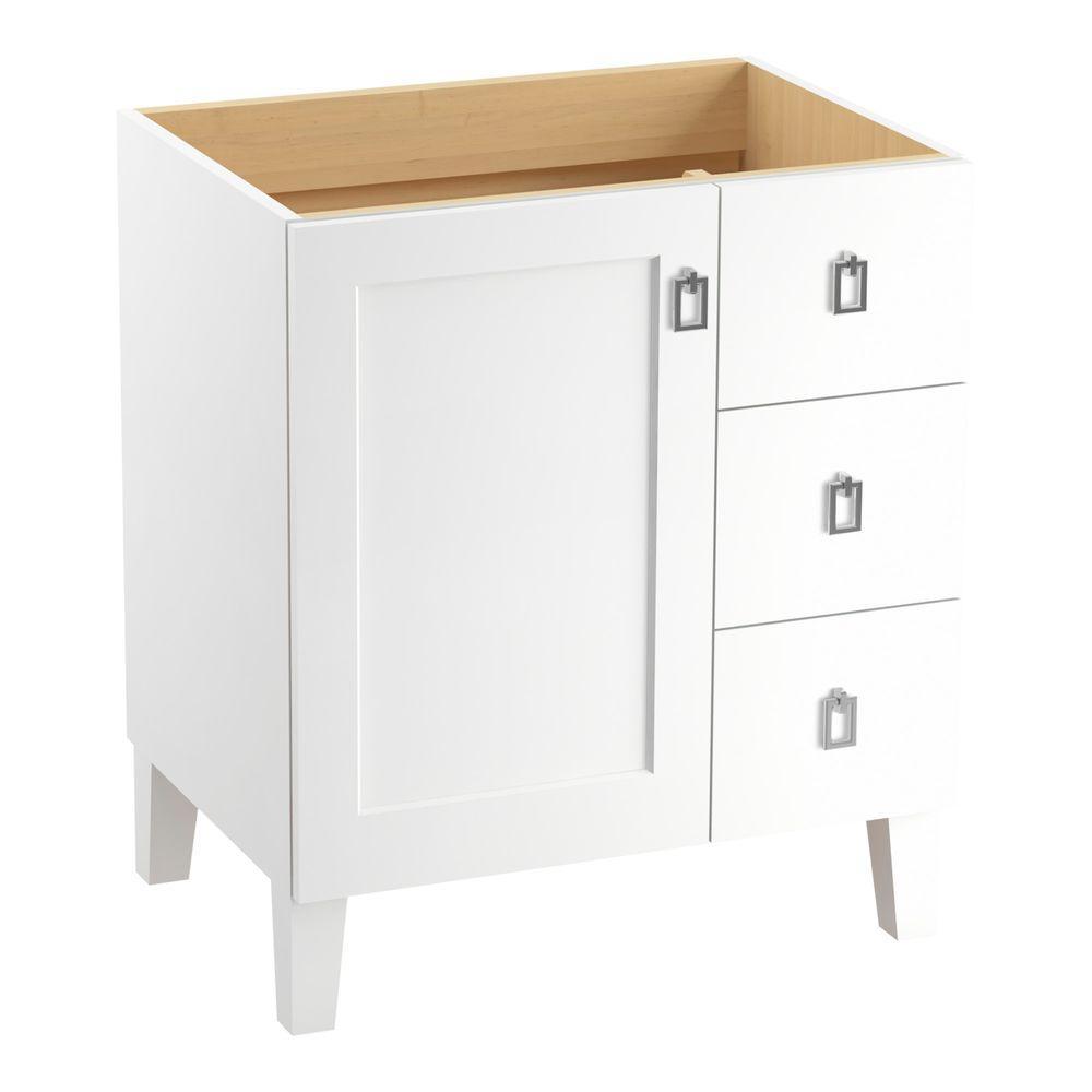 Poplin 30 in. Vanity Cabinet in Linen White