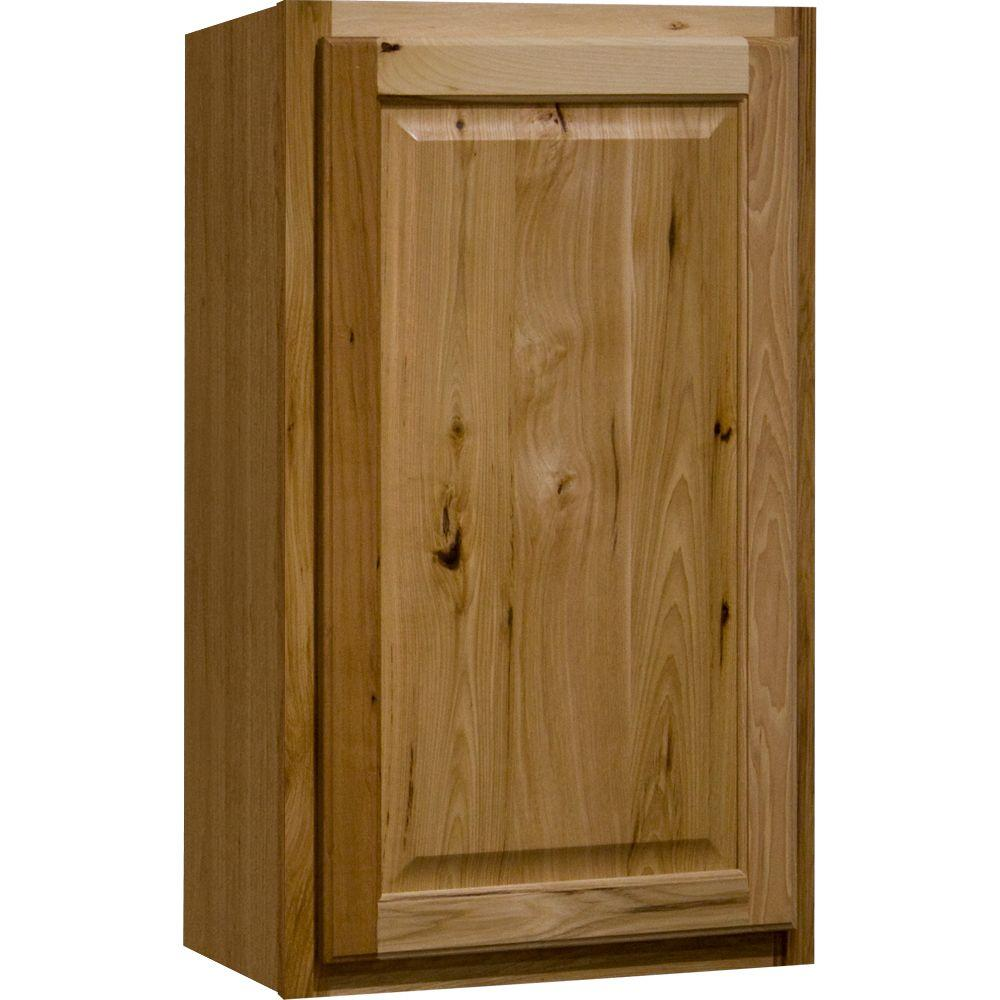 Hampton Bay Hampton Assembled 36x30x12 In. Wall Kitchen Cabinet In Natural  Hickory KW3630 NHK   The Home Depot