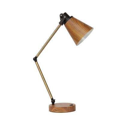 Dixon 17 in. Gold Table Lamp with Metal Shade
