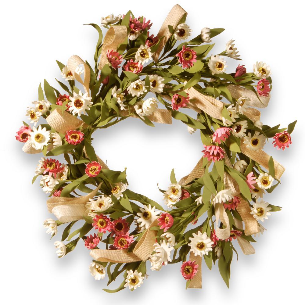 National Tree Company 22 in. Sunflower Wreath RAS-CDF62102-1