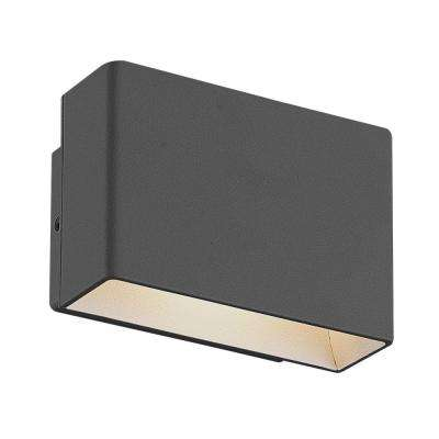 Vello Collection 1-Light Graphite Grey Outdoor LED Wall Mount