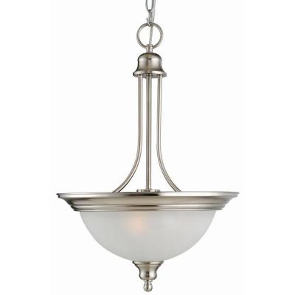 Bristol 2-Light Satin Nickel Pendant