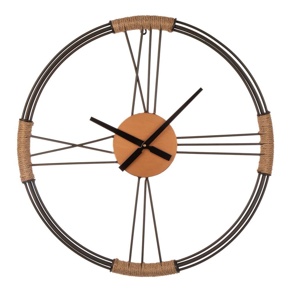 26.77 in. D Farmhouse Metal Wall Clock