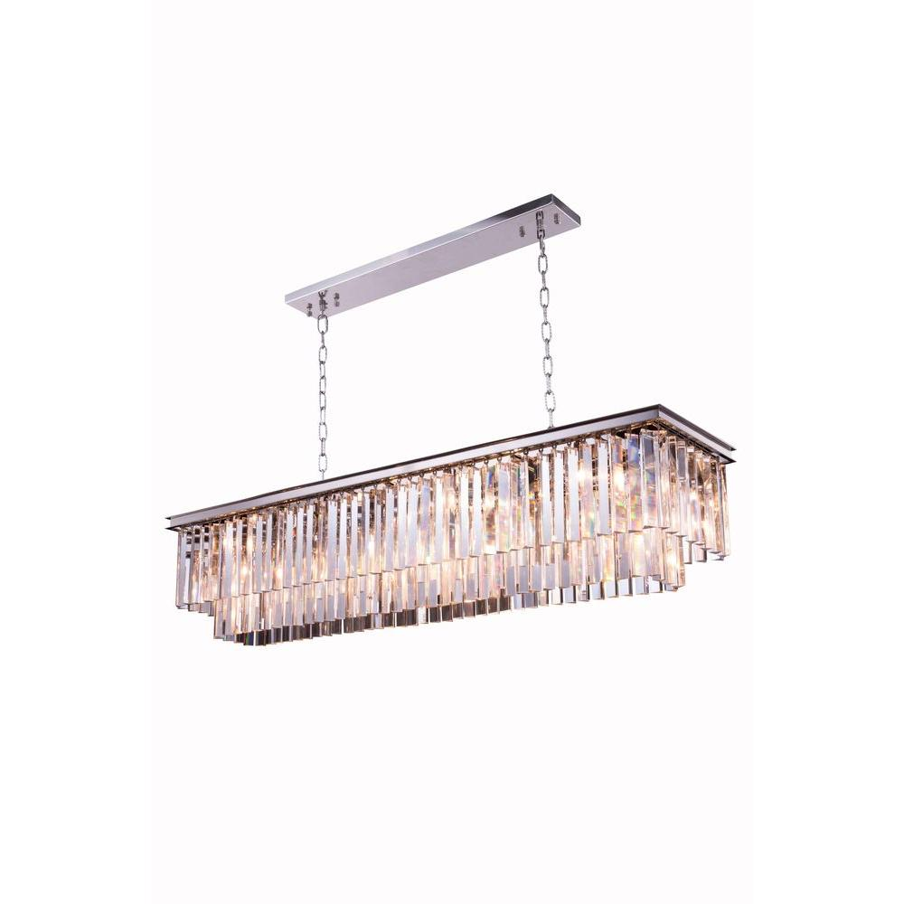 Beldi st louis 5 lights antique brown frame chandelier with clear sydney 12 light mocha brown chandelier with clear crystal arubaitofo Gallery