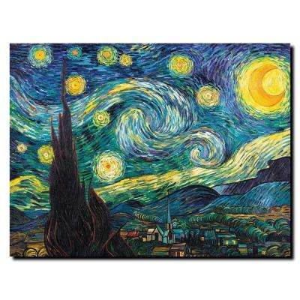24 in. x 32 in. Starry Night Canvas Art