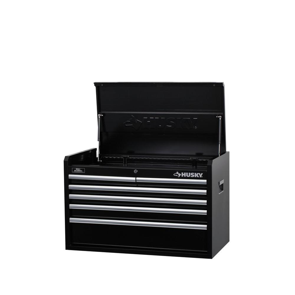 Husky 33 in. W 6-Drawer Tool Chest, Black-H346CH - The Home Depot