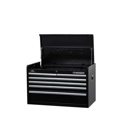 33 in. W 6-Drawer Tool Chest, Black