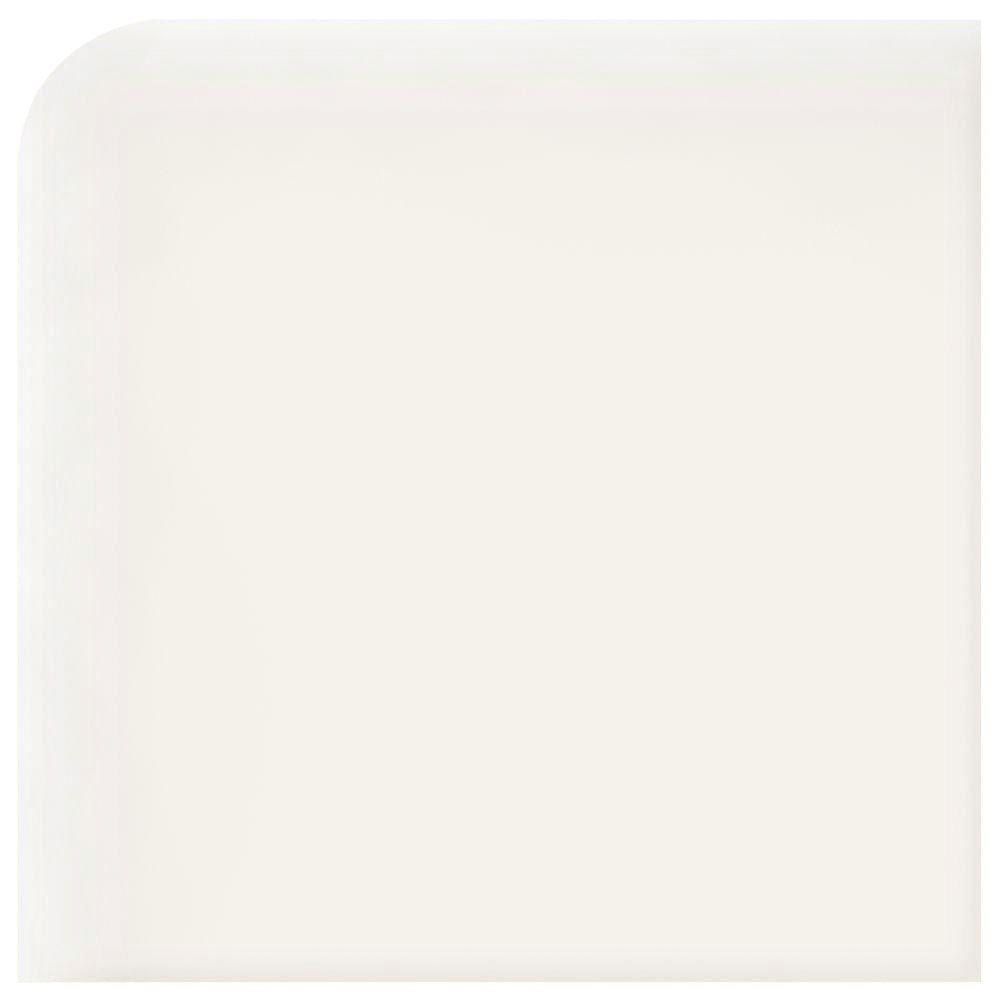 Daltile Modern Dimensions Gloss Arctic White 2-1/8 in. x 2-1/8 in. Ceramic Surface Bullnose Corner Wall Tile-DISCONTINUED