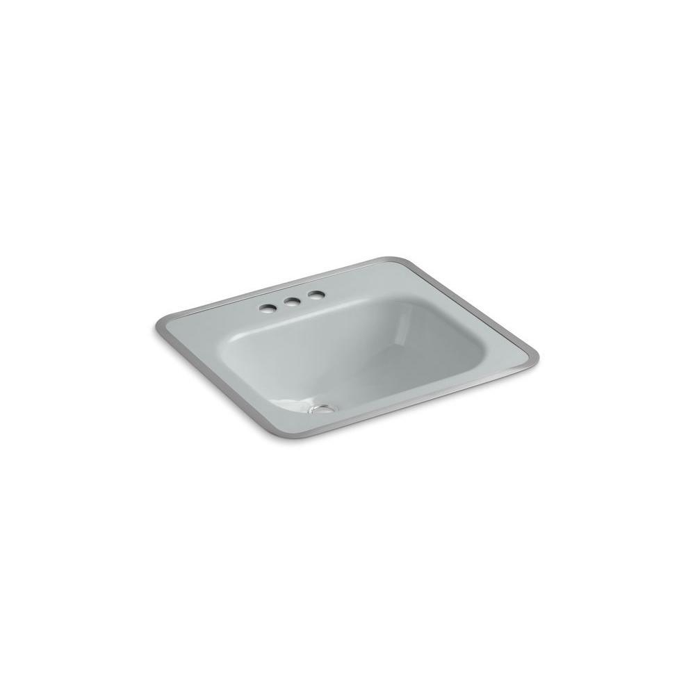 KOHLER Tahoe Drop-in Bathroom Sink in Ice Grey-DISCONTINUED