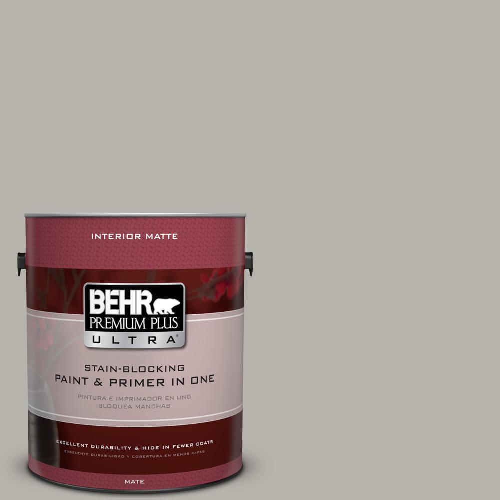 Behr Premium Plus Ultra 1 Gal Ppu24 11 Greige Matte Interior
