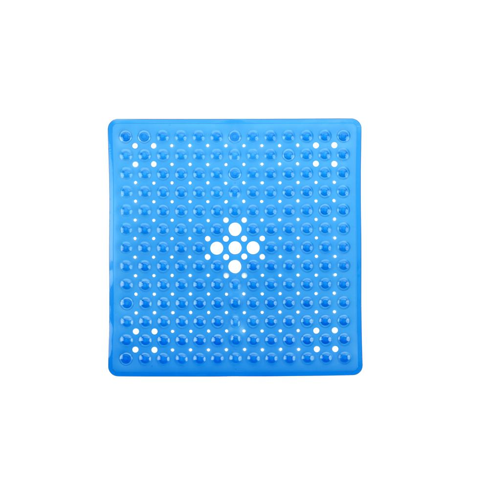 21 in. x 21 in. Square Shower Mat in Blue