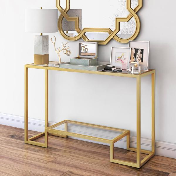 Athena Console Table in Blackened Bronze