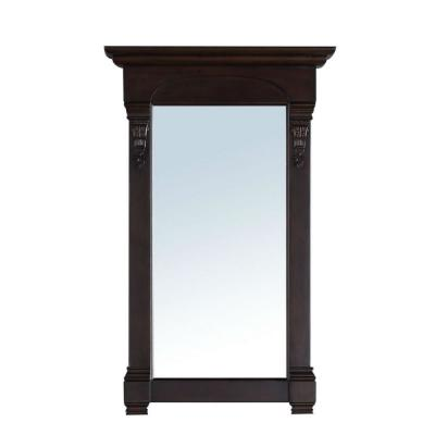 Brookfield 26 in. W x 42 in. H Framed Wall Mirror in Burnished Mahogany