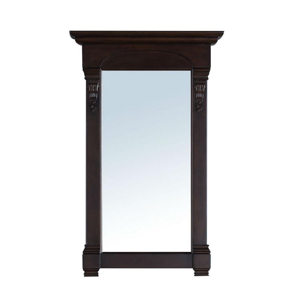 Brookfield 26 in. W x 42 in. H Framed Rectangular Bathroom Vanity Mirror in Burnished Mahogany