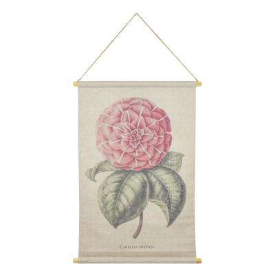 Camellia Hanging Linen Tapestry