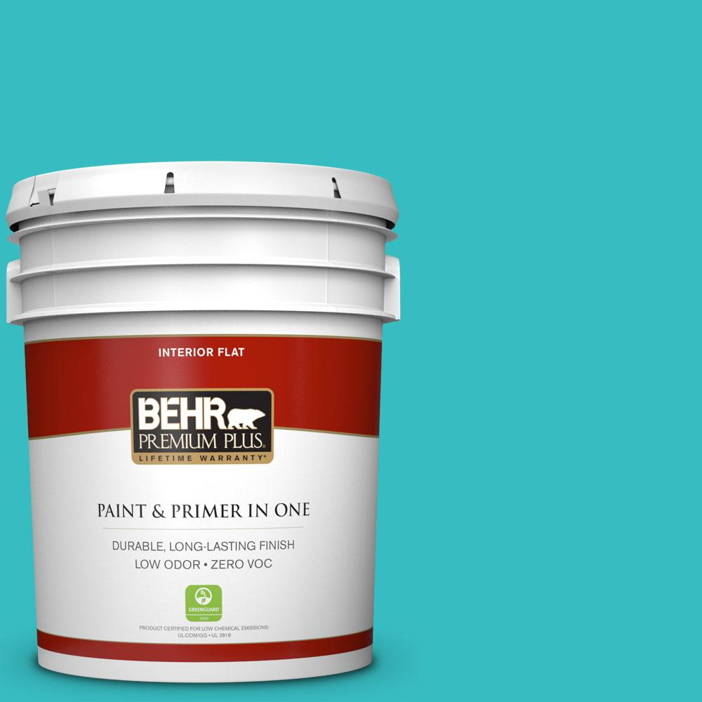 BEHR Premium Plus 5-gal. #P460-4 Lagoon Rock Flat Interior Paint