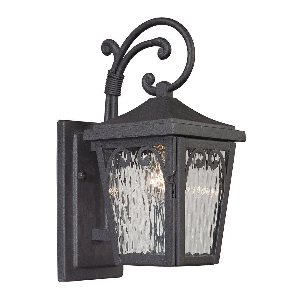 Dunwoody Collection 1-Light Charcoal Outdoor Sconce