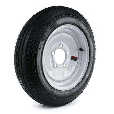 480-12 Load Range B 5-Hole Trailer Tire and Wheel Assembly