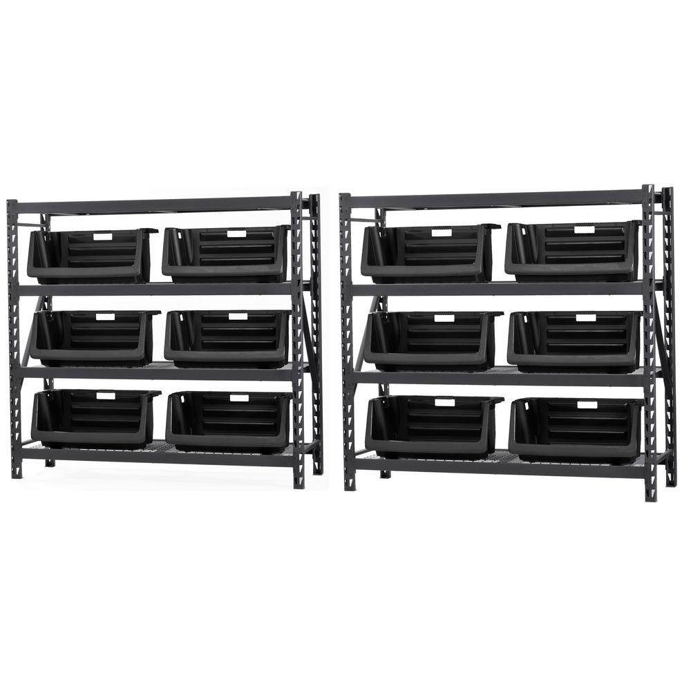 Muscle Rack 72 in. H x 154 in. W x 24 in. D 4-Wire Shelves Storage ...