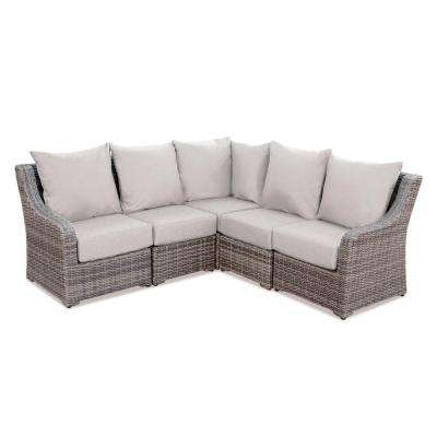 Cherry Hill 5-Piece Patio Seating Set with Cast-Ash Cushions