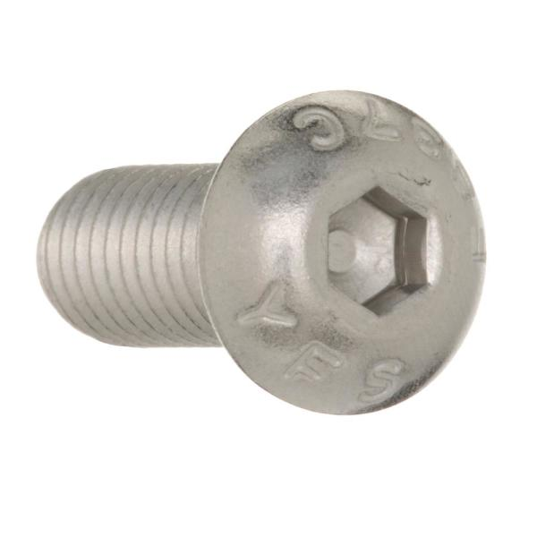 5-Pack Home Stainless Steel 44018 3//8-16 X 1-Inch Button Socket Cap Screw