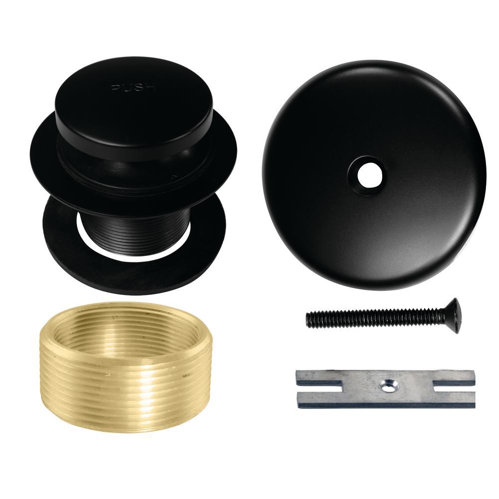 Westbrass Universal Tip-Toe Tub Drain Trim Kit in Matte Black