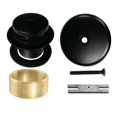 Universal Tip-Toe Tub Drain Trim Kit in Matte Black