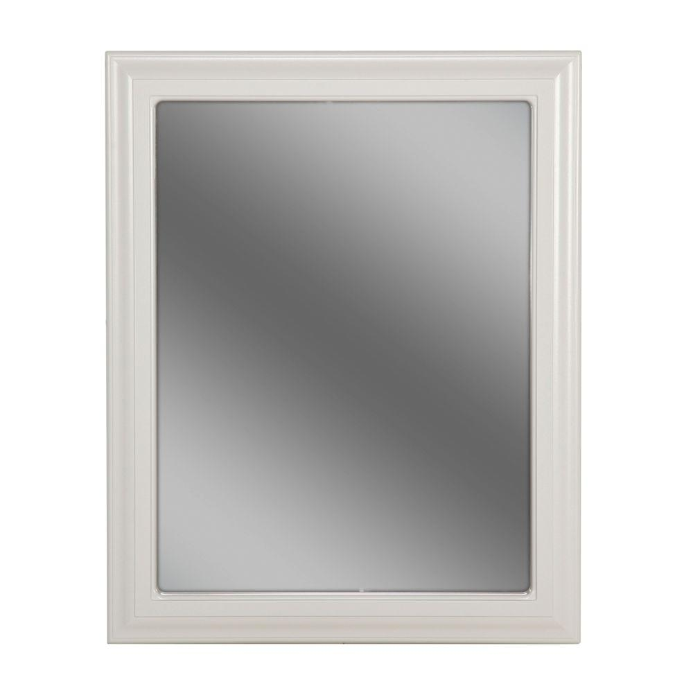 St. Paul Providence 24 in. L x 30 in. W Framed Wall Mirror in White ...