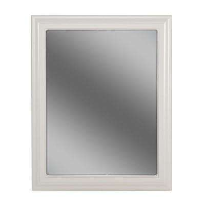 Providence 24 in. L x 30 in. W Framed Wall Mirror in White