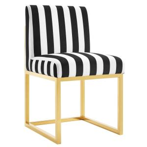 Elegant TOV Furniture Haute Paris Black And White Velvet Chair TOV D41   The Home  Depot