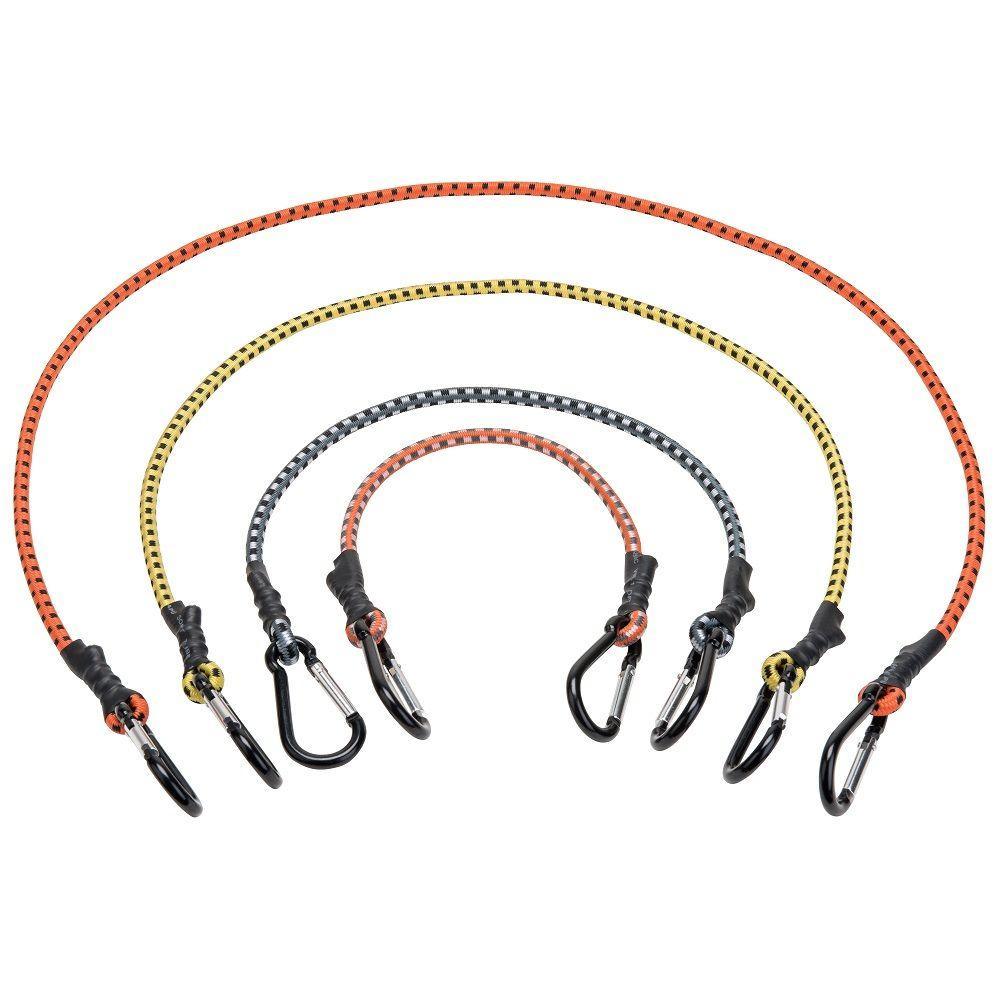 Mini Carabiner Bungee Assortment Rope (12-Pack)