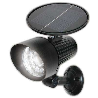 Solar Black Motion Activated Outdoor Integrated LED Flood Light