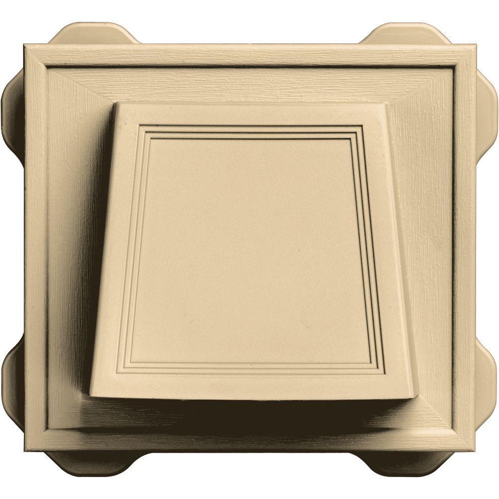 Builders Edge 6.6875 in. x 7.375 in. #016 Gray 4 in. Hooded Siding Vent