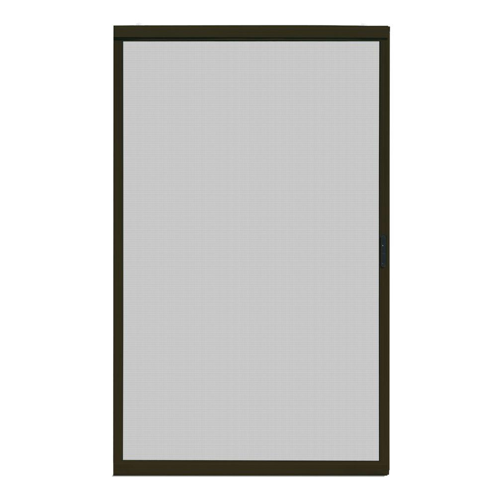 Unique home designs 48 in x 80 in ultimate bronze metal for Universal sliding screen door