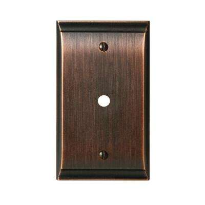 Candler 1-Cable Wall Plate, Oil-Rubbed Bronze