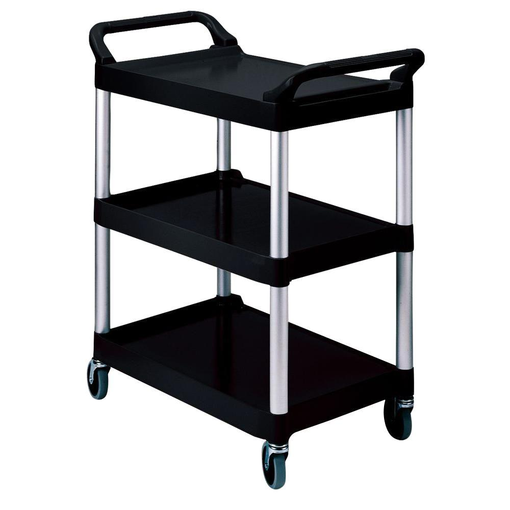 Rubbermaid Commercial Products 200 lb. Holding Capacity Utility Cart with Swivel Casters in Black