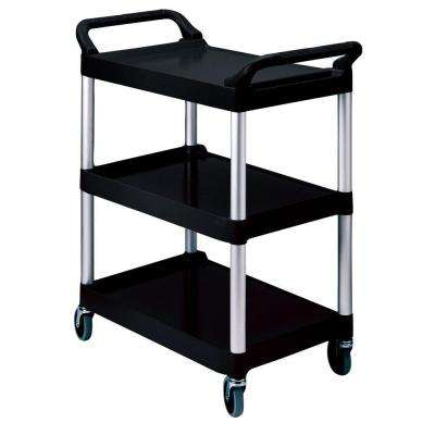 200 lb. Holding Capacity Utility Cart with Swivel Casters in Black