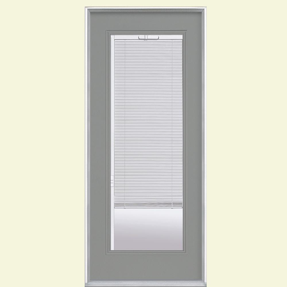 Masonite 32 In X 80 In Mini Blind Left Hand Inswing Painted Steel