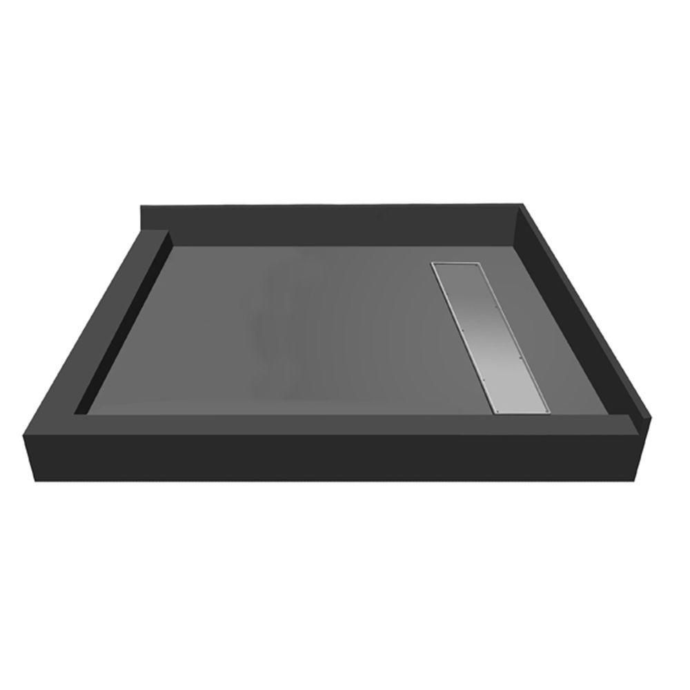 42 in. x 42 in. Double Threshold Shower Base with Right