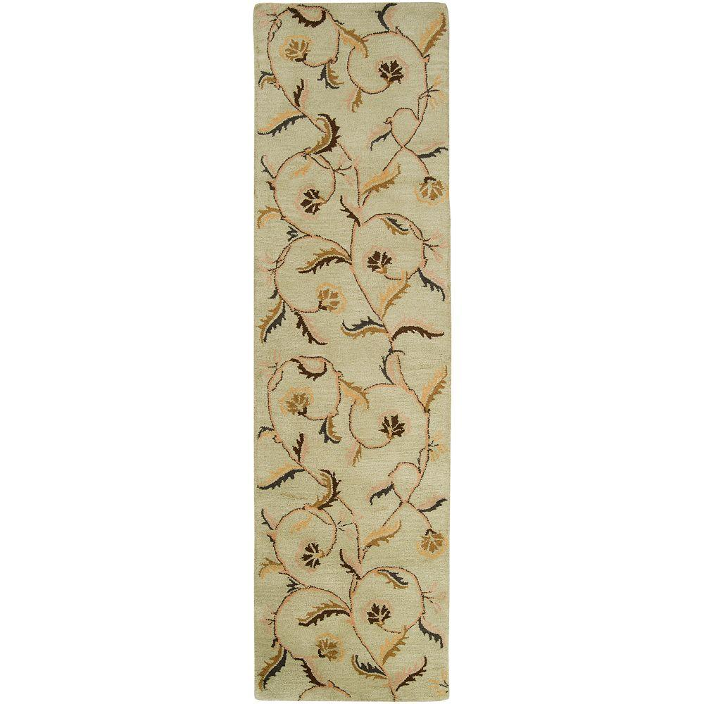 Artistic Weavers Rho Pale Moss 3 ft. x 12 ft. Runner