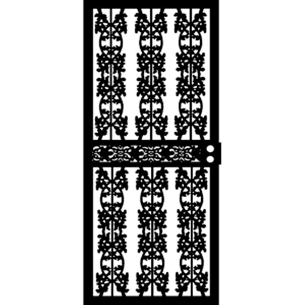 36 in. x 80 in. 403 Series Black Elm Security Door