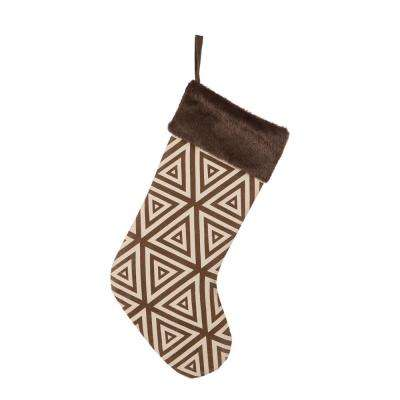 20 in. L Christmas Stocking with Faux Fur Cuff