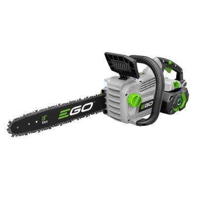 18 in. 56-Volt Lithium-Ion Cordless Electric Chainsaw, 5.0 Ah Battery and Charger Included