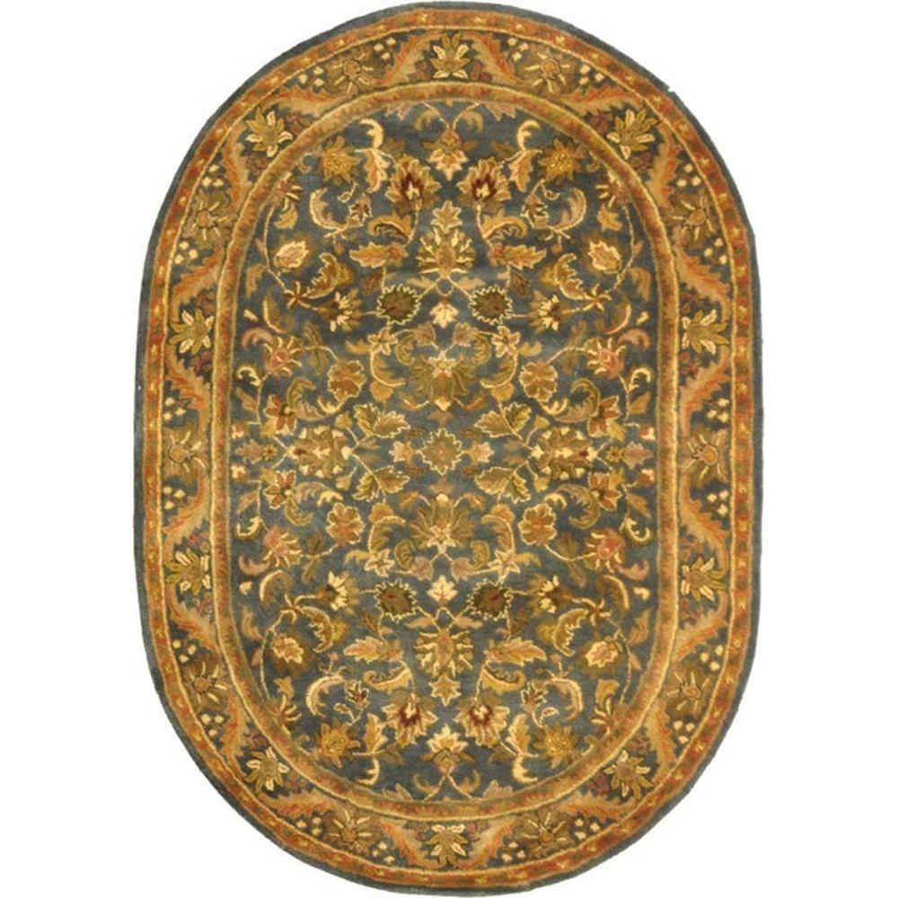 Antiquity Blue/Gold 4 ft. 6 in. x 6 ft. 6 in.