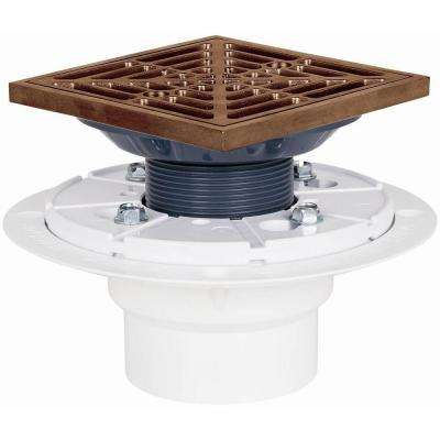 2 in. Square Bronze Shower Pan Drain