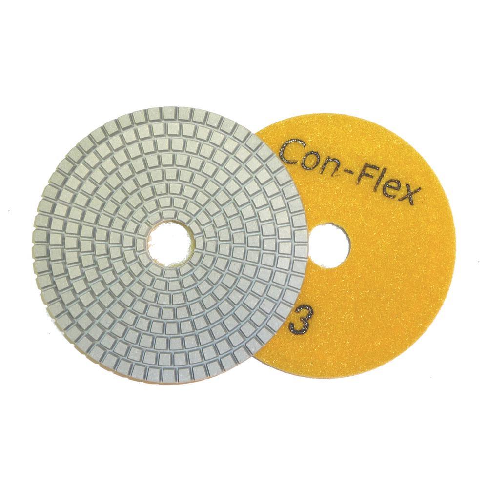 4 in. Con-Flex 5-Step Diamond Pads for Concrete Step 3