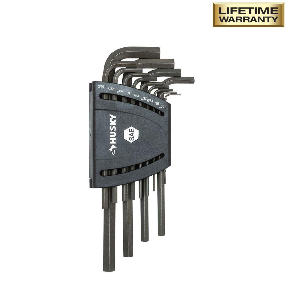 SAE Long Arm Hex Key Set (13-Piece)