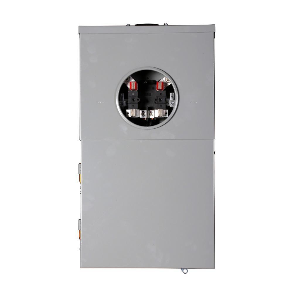 Eaton 100 Amp 12-Space 24-Circuit EUSERC Surface BR Type Main Breaker Meter