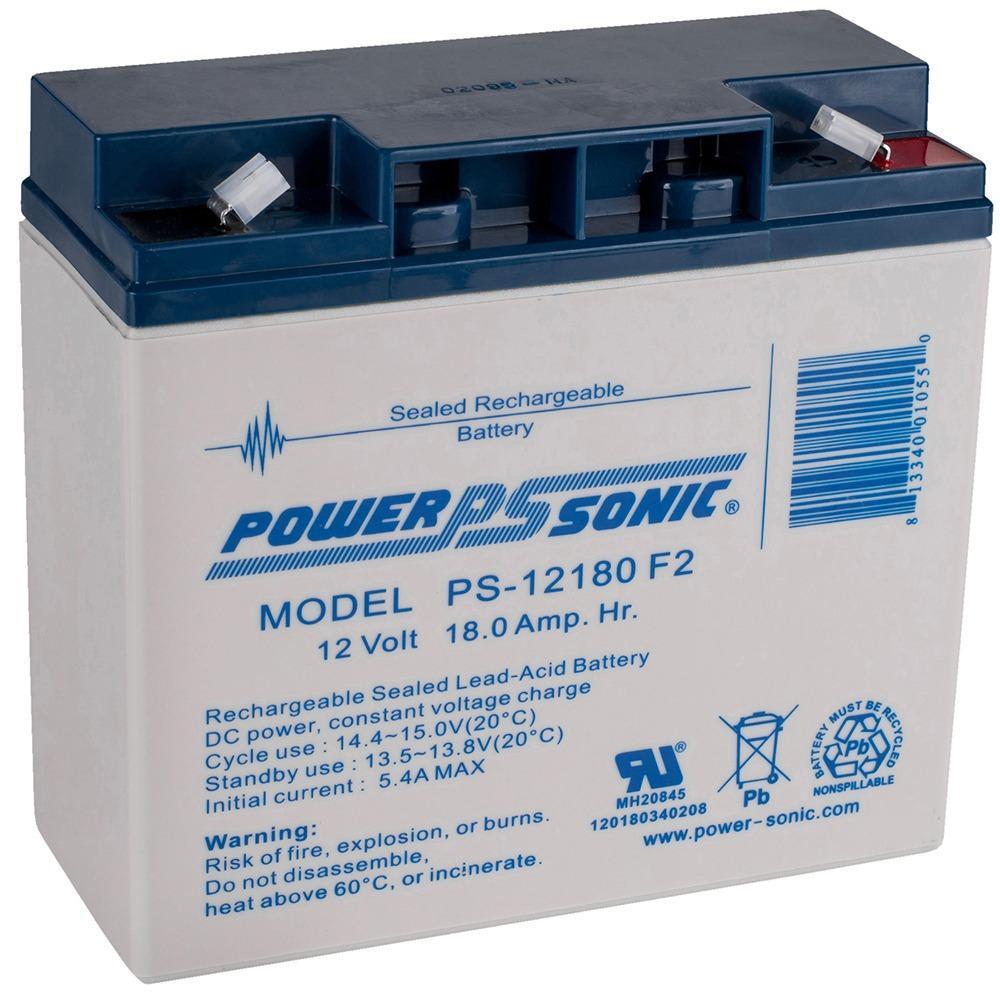 12-Volt 18 Ah F2 Terminal Sealed Lead Acid (SLA) Rechargeable Battery